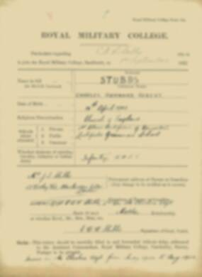 RMC Form 18A Personal Detail Sheets Feb & Sept 1922 Intake - page 133