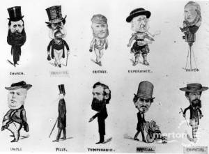 Collinsgby Caricatures of eminent Mitcham residents