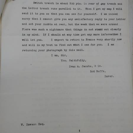 Letter - From Ivan A. Jacobs to Walter Dowson Part 2