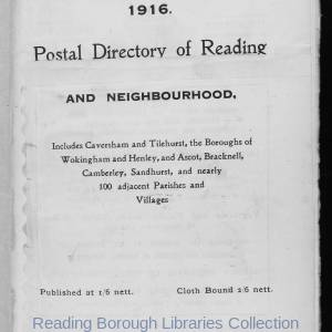 Smith's Directory of Reading 1916
