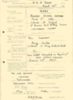 RMC Form 18A Personal Detail Sheets Aug 1935 Intake - page 28