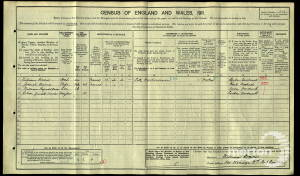 1911 Census - 24 Kenwyn Road, West Wimbledon