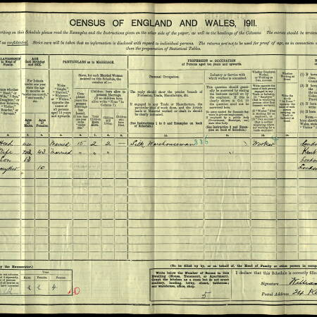 1911 Census - 24 Kenwyn Road, West Wimbledon
