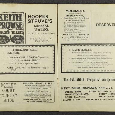 Original Dixieland Jazz Band, London Palladium. 1919 003