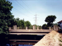 Road bridge over the River Wandle near Deen City farm, Morden