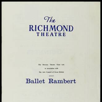 Richmond Theatre, London, February 1964 - P01