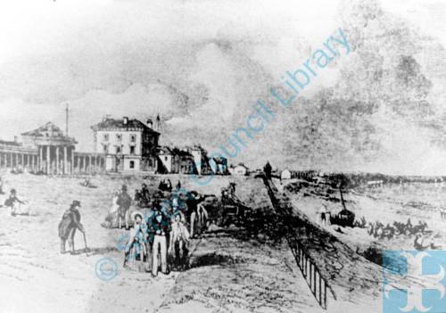 An Early Drawing of the Promenade Southport