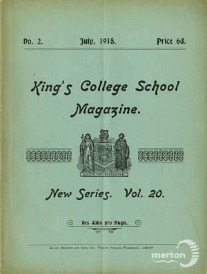 KCS Magazine Front Cover  - July 1918
