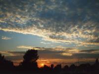 Sunset over Mitcham Common