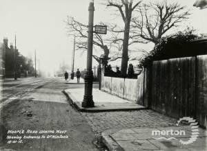 Worple Road, Wimbledon: Entrance to Dr. Winton's House ( now 34 )