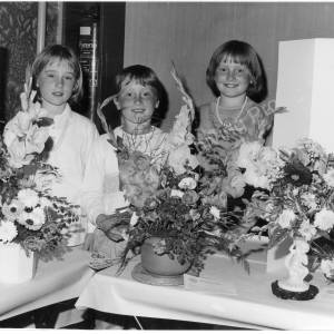 Chapeltown & District Horticultural Society Show At Newton Hall 1986.