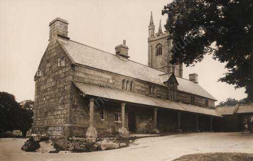 Almshouse at Widecombe-in-the-Moor, c1930, Dartmoor