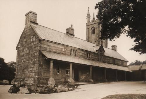 Almshouse at Widecombe-in-the-Moor, c1930, Dartmoor