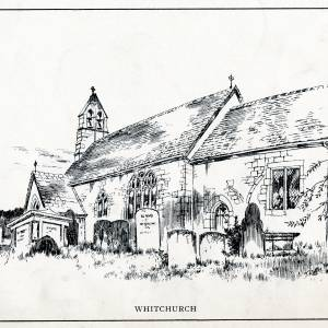 Whitchurch Church, Herefordshire, print