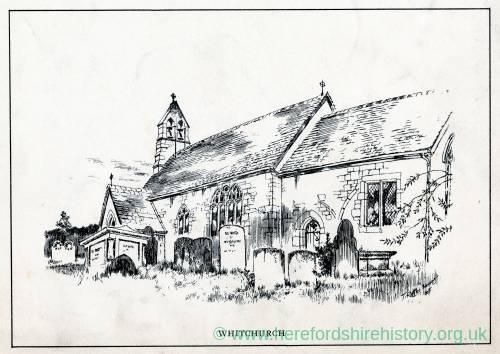 Whitchurch Church, Herefordshire, print