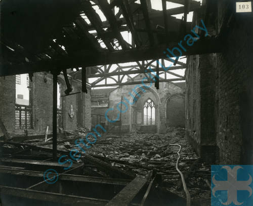 St Mary's Church, bomb damage, Blitz