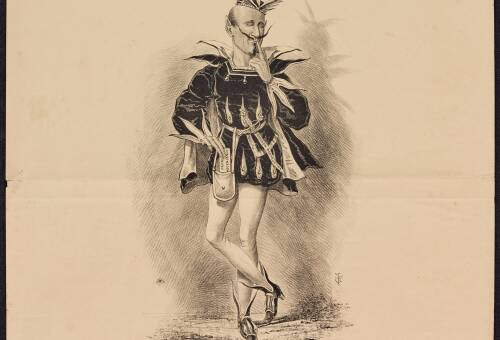 """Exeter Election, 1868, """"Shakespeare illustrated"""" No.6, Mephistopheles"""