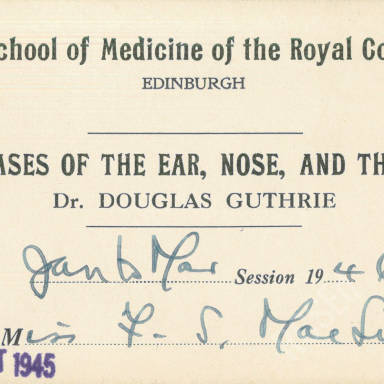 Diseases of the Ear, Nose & Throat