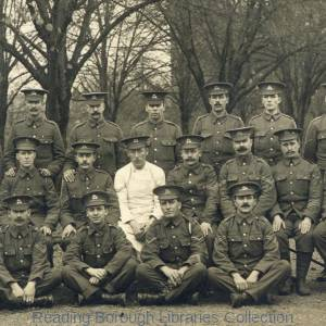 Corporals, Royal Berkshire Regiment, the Depot, Brock Barracks, Reading, c.August 1914.