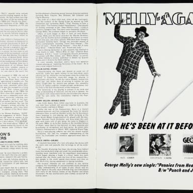 George Melly & John Chilton's Feetwarmers, Belgrade Theatre, Coventry - March 27th 1977 004