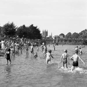 Children Playing in the River Wye, 1949