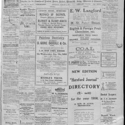 Hereford Journal - 3rd January 1914