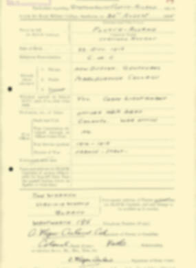 RMC Form 18A Personal Detail Sheets Aug 1935 Intake - page 76