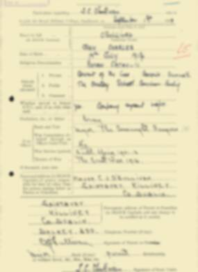 RMC Form 18A Personal Detail Sheets Feb & Sept 1933 Intake - page 260