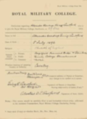 RMC Form 18A Personal Detail Sheets Jan 1915 Intake - page 92