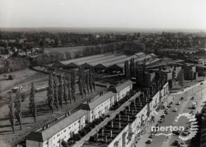 London Road, Morden: Aerial View over Tube Sidings