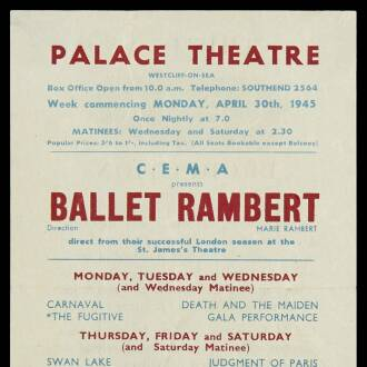 Palace Theatre, Westcliff, April–May 1945