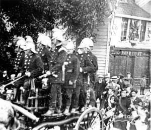 Mitcham Volunter Fire Brigade pictured on Upper Green East