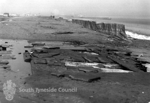 Damage to South Shields Foreshore