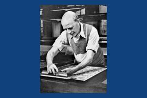 Liberty Print Works: Block printing fabric