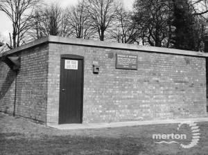 Air raid shelter on Mitcham's Cricket Green