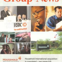 Front page from 'Group News' in April 2003 announcing the acquisition of Household International