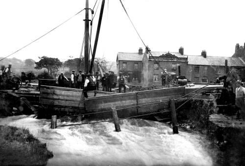 Canal breach at Agden