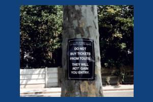 Church Road, Wimbledon: Sign for the Wimbledon tennis championships