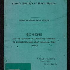 Scheme for the Provision of Domiciliary Assistance to Unemployable and Other Necessitous Blind Persons