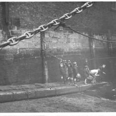Children Playing In The Docks, South Shields