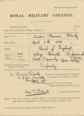 RMC Form 18A Personal Detail Sheets Jan 1915 Intake - page 32