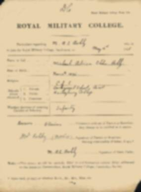 RMC Form 18A Personal Detail Sheets May 1915 Intake - page 5