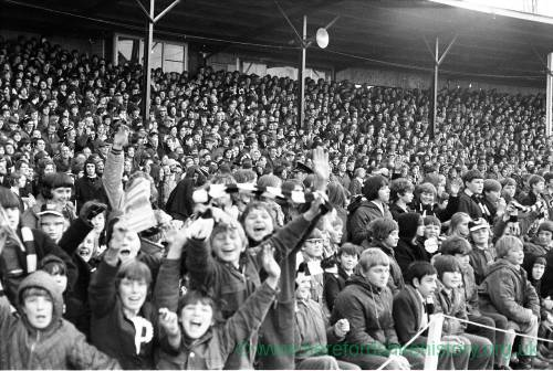 Young Hereford United supporters at the Newcastle cup tie, Feb 1972.