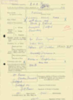 RMC Form 18A Personal Detail Sheets Feb & Sept 1933 Intake - page 263