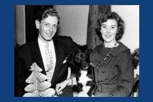 Brian Hewson with his wife Bobbie & dog Fritz.