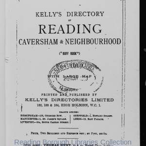 Kelly's Directory of Reading 1919