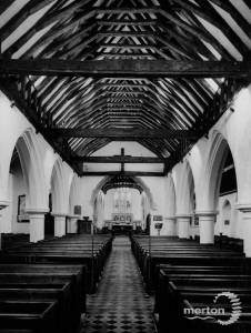Roof of the nave at St. Mary's Church, Merton Park