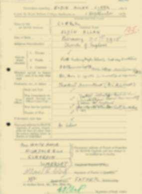 RMC Form 18A Personal Detail Sheets Feb & Sept 1933 Intake - page 169