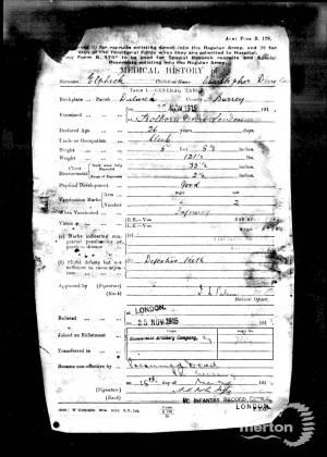 Service Record - Christopher Douglas Elphick