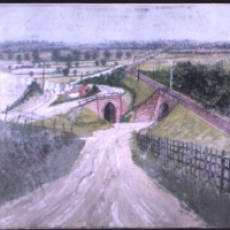 1920s Paul Evans Painting of the Sewell Lime Works